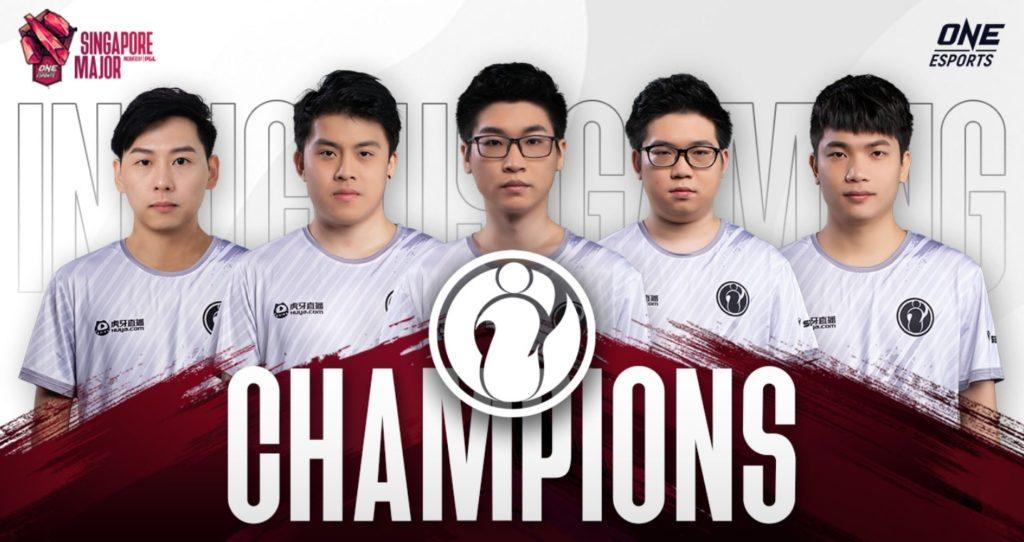 Invictus Gaming hace un barrido inverso a Evil Geniuses y gana ONE Esports Singapore Major